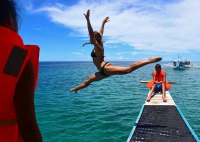 FILIPIJNEN Holiday Home 2013 bangka islandhopping coahagan split jump