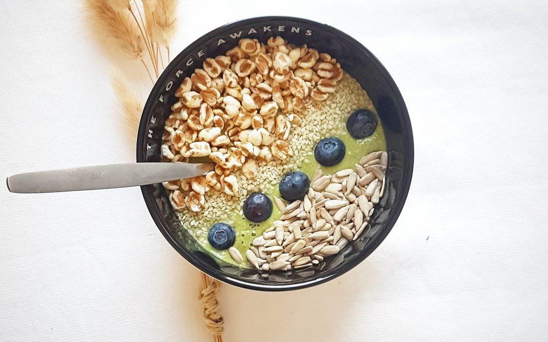 groene hulk smoothie bowl spinazie