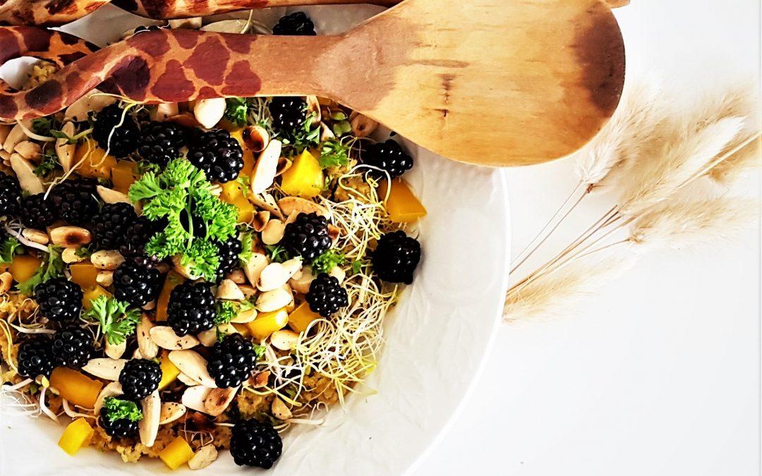 summervibe spelt couscous salade met bramen